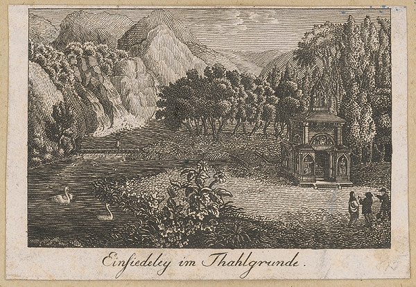 Stredoeurópsky grafik z 18. storočia – Samota v Thahlgrunde
