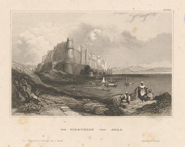 Stredoeurópsky grafik z 19. storočia - Pevnosť Agra