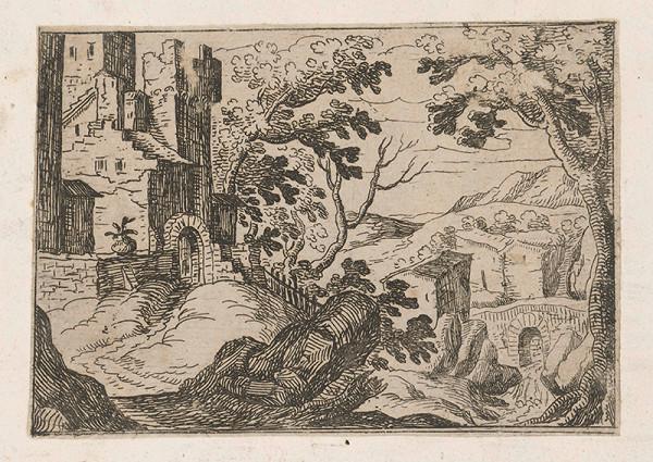 Stredoeurópsky grafik z konca 17. storočia – Krajina