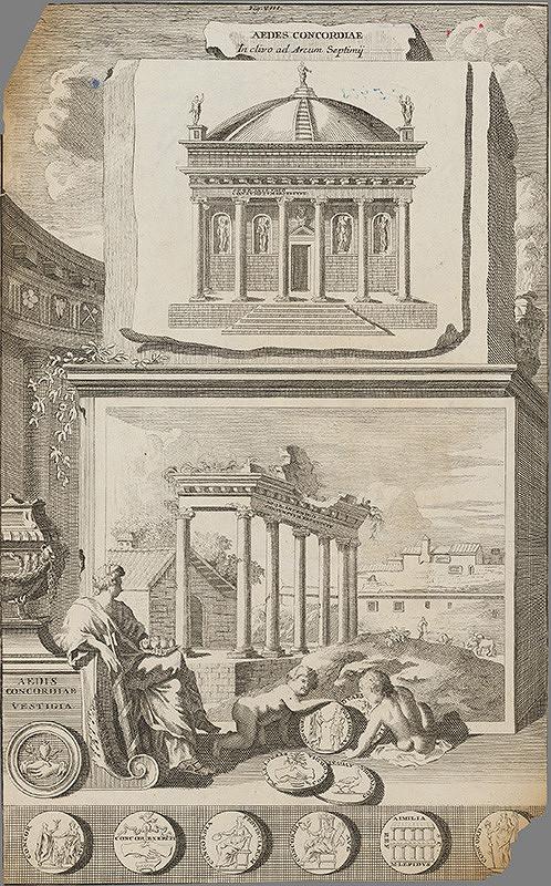 Stredoeurópsky grafik z 18. storočia – Portál a zrúcanina paláca