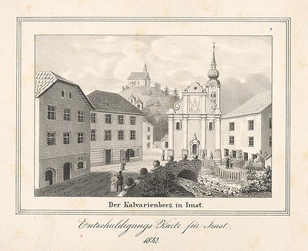 Stredoeurópsky grafik z polovice 19. storočia – Kalvária v Imste