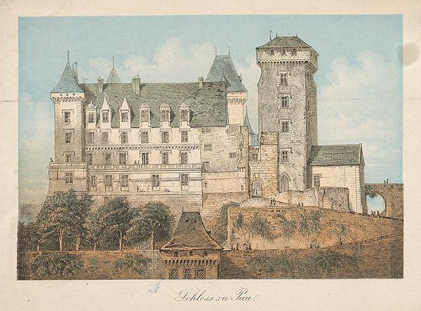 Stredoeurópsky grafik z polovice 19. storočia - Zámok v Pau