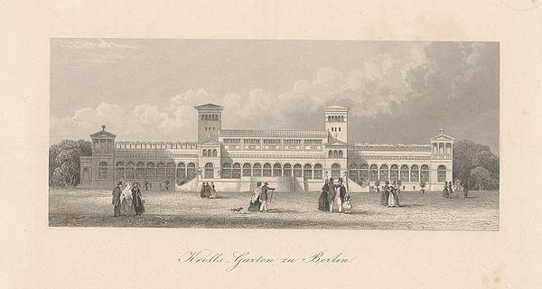 Stredoeurópsky grafik z 19. storočia - Záhradný pavilón Krolls v Berlíne