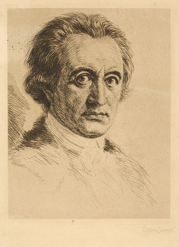 Stredoeurópsky grafik zo začiatku 20. storočia – Portrét muža