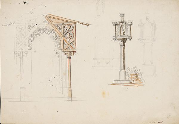 Karl Feigler – Návrh na fasádu záhr. verandy a Mariánskeho stĺpu