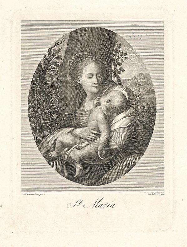 Johann Carl Schleich st., Camillo Procaccini, Giovanni Battista Crespi, Il Cerano – Madona s dieťaťom