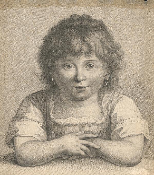 Stredoeurópsky grafik z 19. storočia - Dievčatko