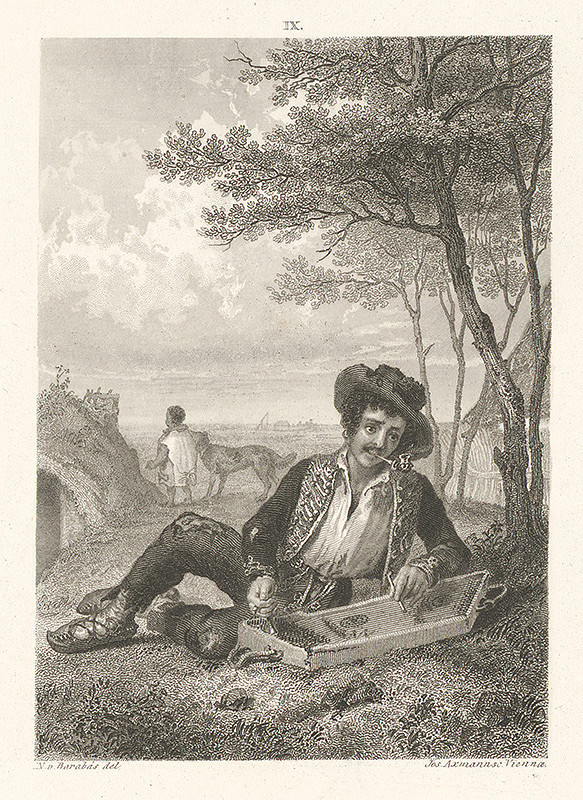 Miklós Barabás, Josef Axmann - Cigáň