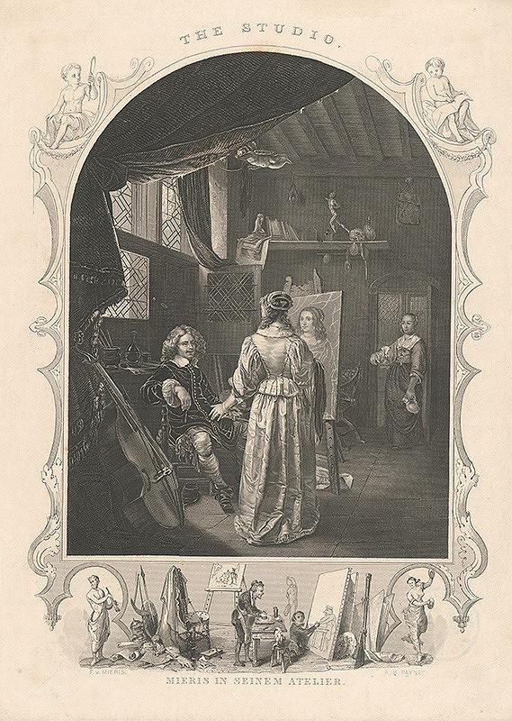 Albert Henry Payne, Frans van Mieris – Mieris vo svojom ateliéri