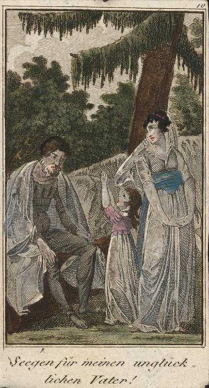 Stredoeurópsky grafik z 19. storočia - Požehnanie pre môjho nešťastného otca