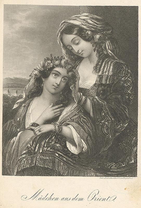 Stredoeurópsky grafik z 19. storočia - Dievčatá z Orientu