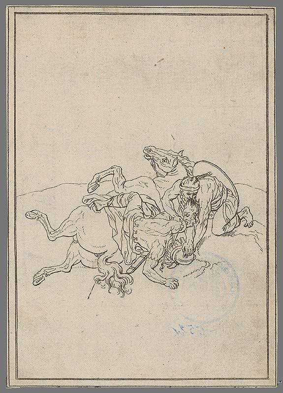 Stredoeurópsky grafik z 19. storočia – Prepadnutie