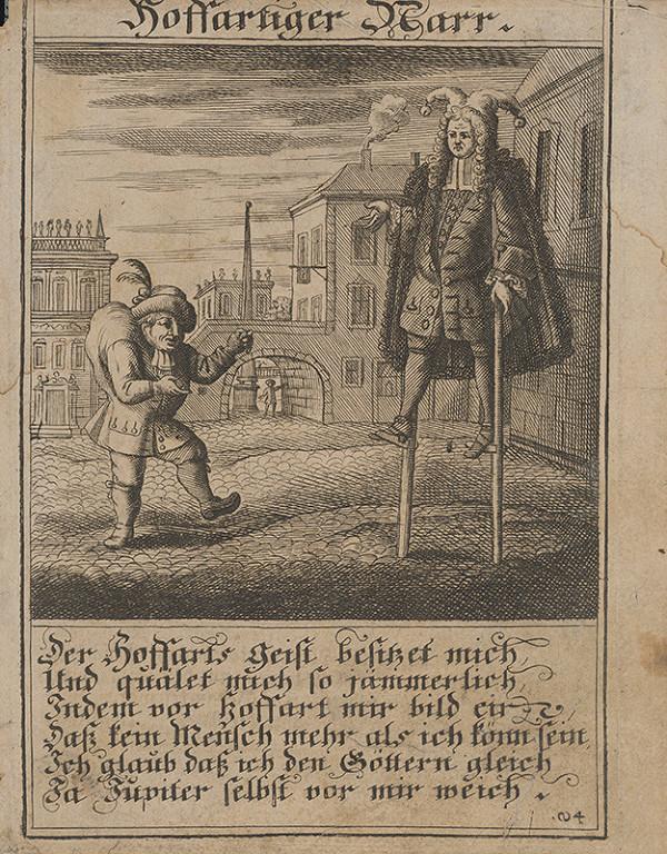 Stredoeurópsky grafik z 1. polovice 18. storočia - Pyšný blázon