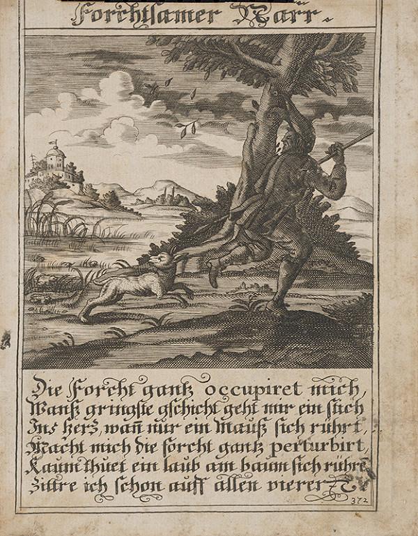 Stredoeurópsky grafik z 1. polovice 18. storočia – Bojazlivý blázon