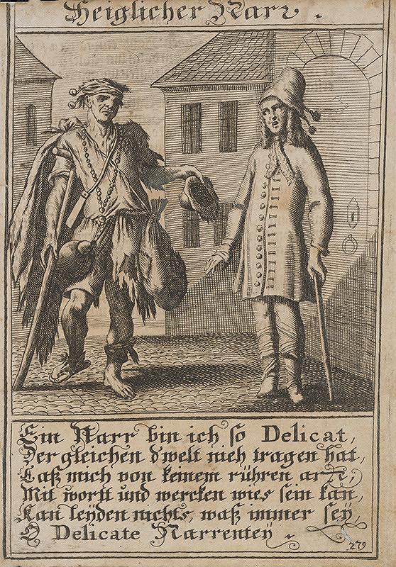 Stredoeurópsky grafik z 1. polovice 18. storočia – Nedôtklivý blázon
