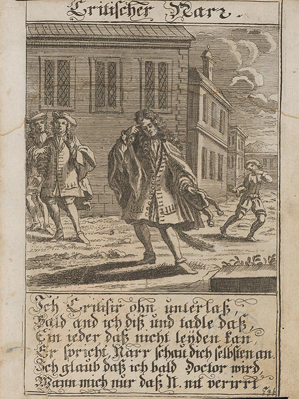Stredoeurópsky grafik z 1. polovice 18. storočia – Kritický blázon