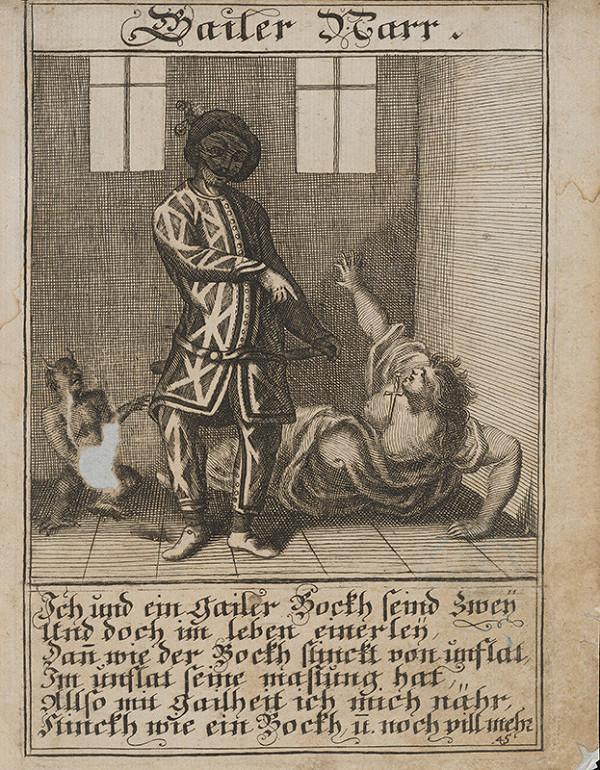 Stredoeurópsky grafik z 1. polovice 18. storočia - Bujný blázon