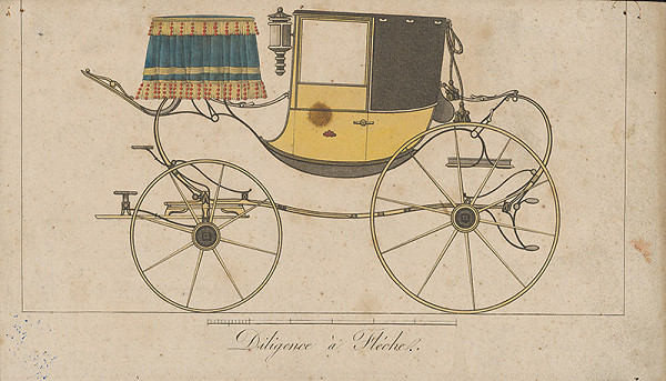 Stredoeurópsky grafik z 19. storočia - Vežičkový dostavník