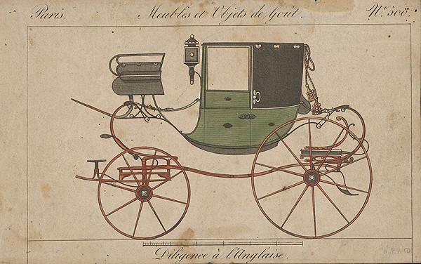 Stredoeurópsky grafik z 19. storočia - Anglický dostavník