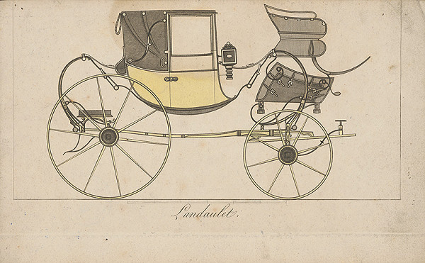 Stredoeurópsky grafik z 19. storočia - Koč-landaulet