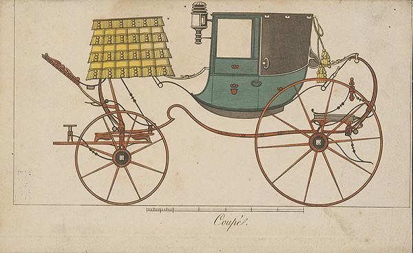 Stredoeurópsky grafik z 19. storočia - Koč-coupé
