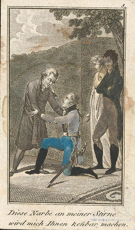 Stredoeurópsky grafik z 19. storočia - Rodinná scéna