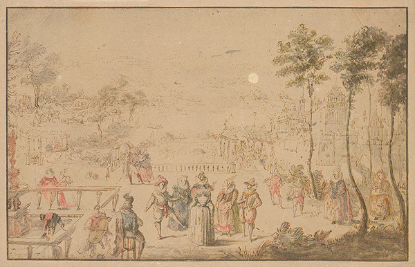 Stredoeurópky grafik z 2. polovice 18. storočia – Záhrada