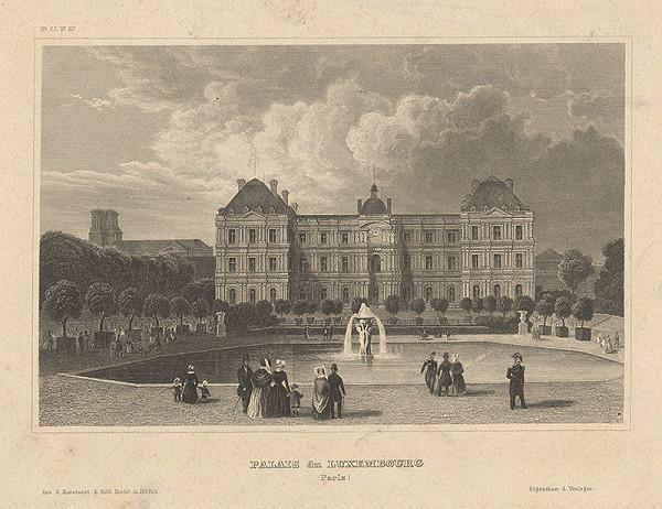 Stredoeurópsky grafik z 19. storočia - Palác du Luxemburg v Paríži