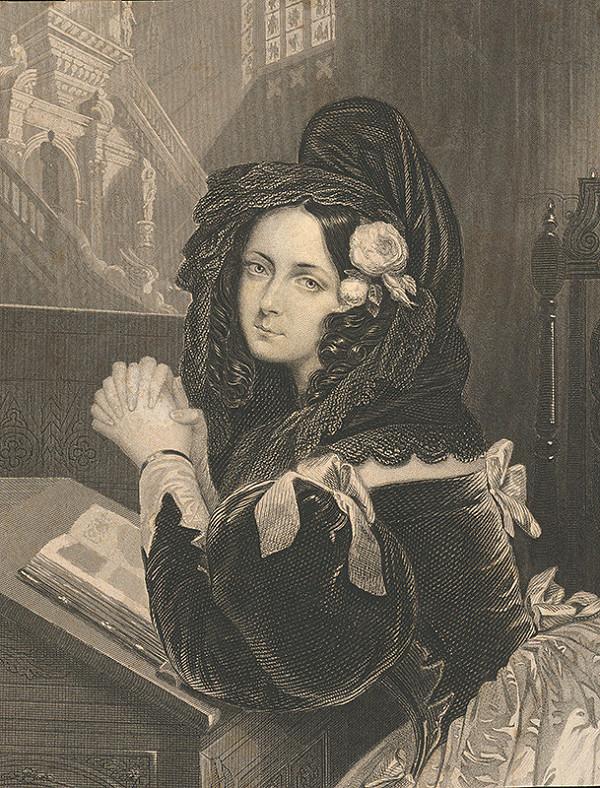 Stredoeurópsky grafik z 19. storočia - Ave Maria
