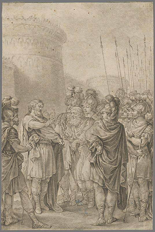 Adam Friedrich Oeser, Neznámy grafik – Antická scéna