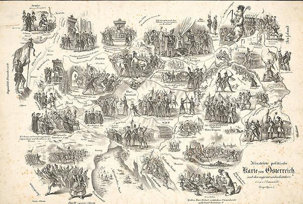 Karl Lanzedelly – Mapa Rakúska