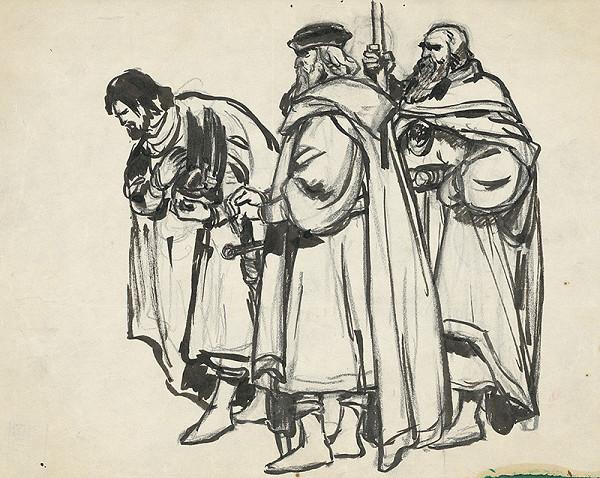 Slovenský grafik zo začiatku 20. storočia – Škica-Traja muži