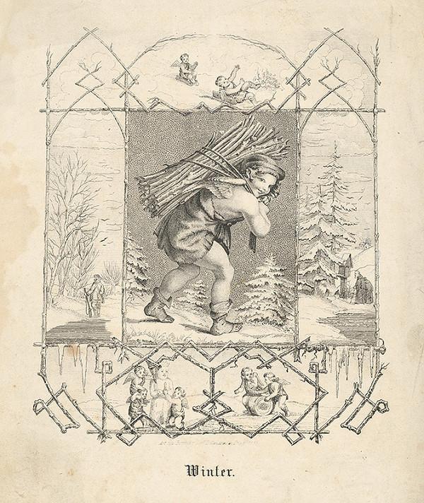 Stredoeurópsky grafik z 19. storočia – Zima