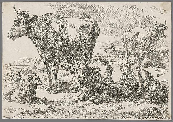 Nicolaes Claes Berchem st. – Kravy