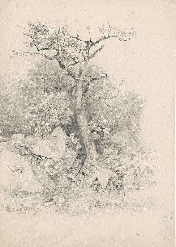 Stredoeurópsky grafik z 19. storočia - Odpočinok