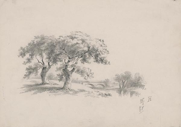 Stredoeurópsky grafik z 19. storočia – Nábrežie