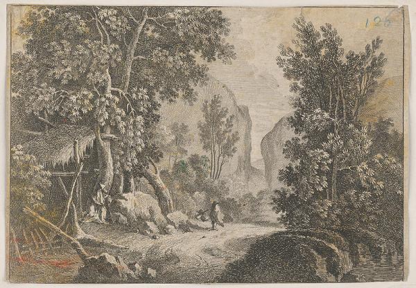 Stredoeurópsky grafik z 18. storočia - Krajinka