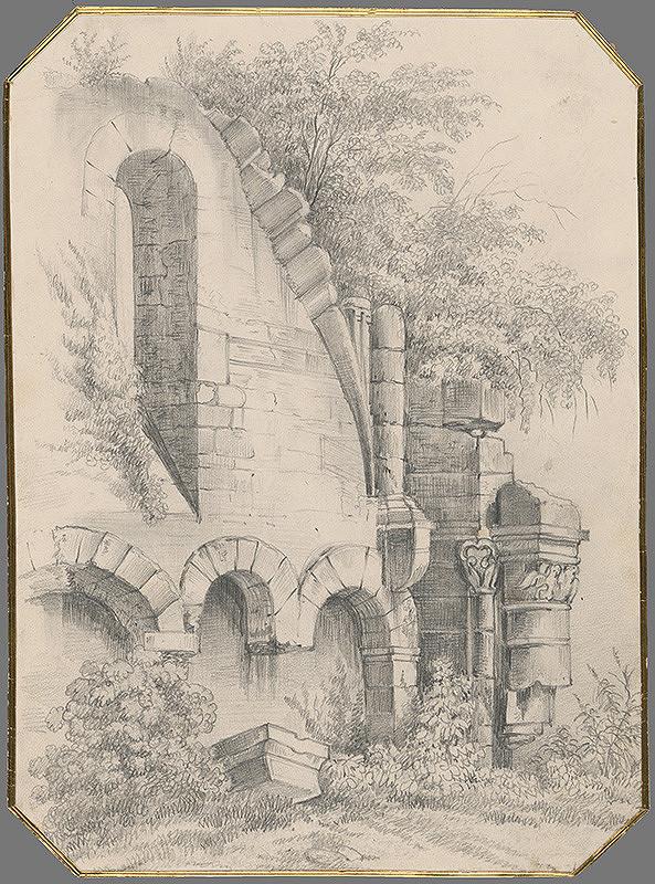 Stredoeurópsky grafik z 19. storočia – Zrúcanina