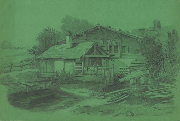 Stredoeurópsky grafik z 19. storočia - Sedliacky dom