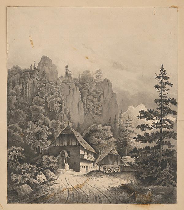 Stredoeurópsky grafik z 19. storočia - Alpská krajina