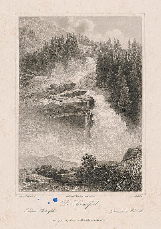 Conrad Huber, Johann Fischbach - Vodopád Krimel