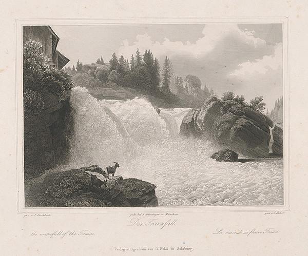 Conrad Huber, Johann Fischbach - Vodopád Traun