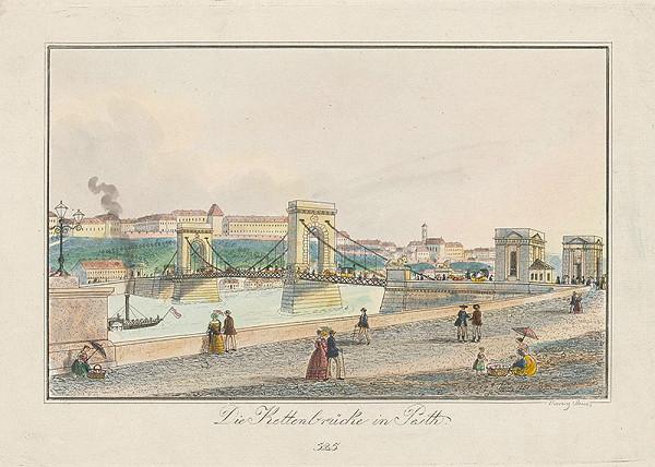 Vincenz Reim – Reťazový most v Budapešti