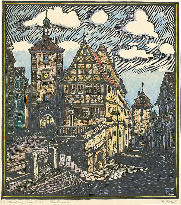 Karol Frech - Ulica v Rothenburgu