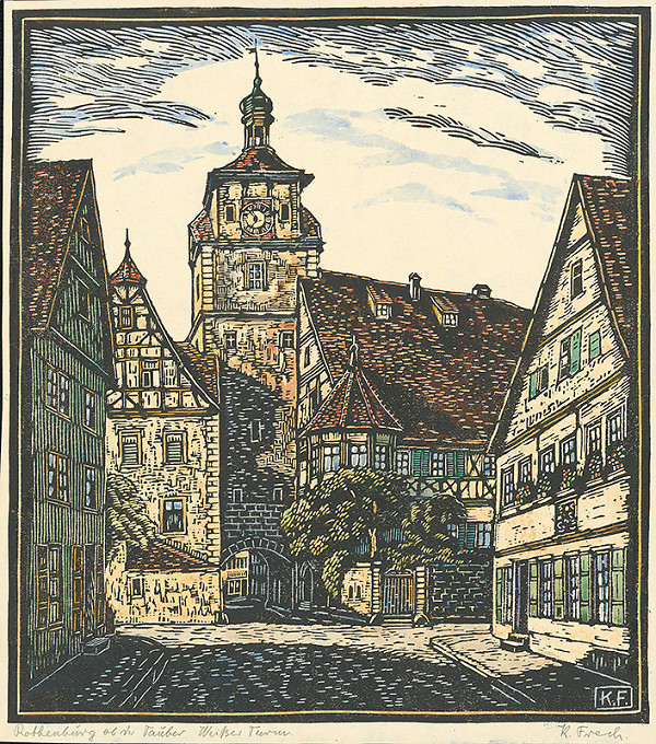 Karol Frech - Námestie v Rothenburgu