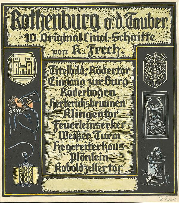 Karol Frech - Zadná strana z albumu pohľadov na Rothenburg