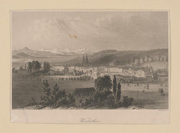 William French - Pohľad na mesto Winterthur