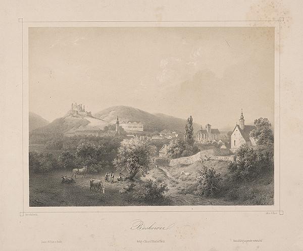 František Kaliwoda, August Haun - Pohľad na mesto Boskovice