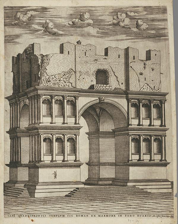 Antonio Lafréry - Zrúcaniny Jánusovho chrámu v Ríme