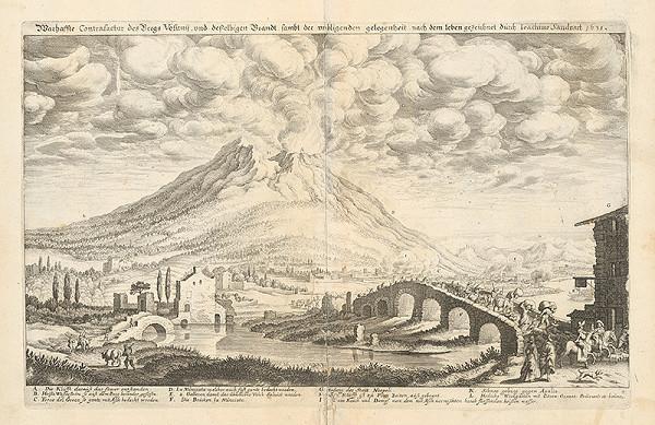 Joachim von Sandrart – Pohľad na výbuch Vezuvu